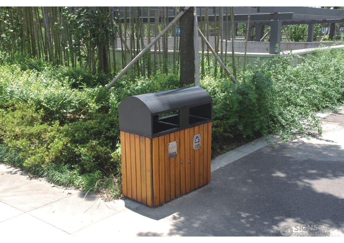高薪·科技广场-垃圾桶标识设计图片