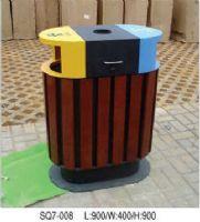 钢木清洁箱垃圾桶设计图
