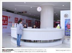 海力创最具代表性作品:重庆SM城市广场标识导示系统设计制作精彩展示展示柜设计图