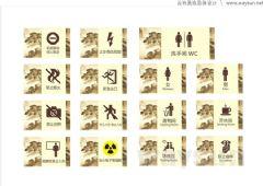 重庆三峡中心医院导示系统名称警示牌设计图