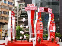 可口可乐广告标识展示柜设计图