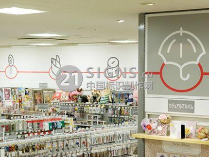 LOFT 购物超市标识展架设计制作图
