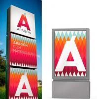 Aragón城市旅游标志广告灯箱设计图
