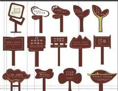 景区花坛标识牌草地牌设计图