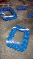 五季花机器人LED点阵字制作安装项目冲孔字设计图