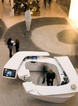伦敦Westfield 商场导视系统设计促销台设计图