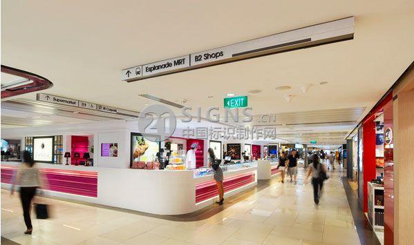 莱佛士城购物中心导视系统设计吸塑灯箱设计图