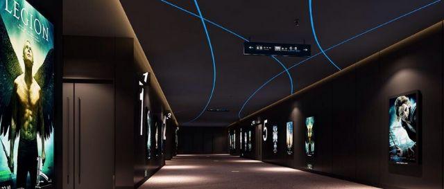 数字影院标识牌设计案例广告灯箱设计图