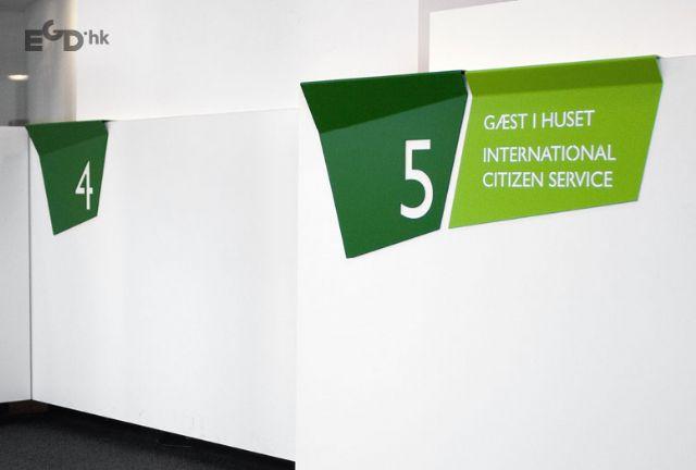 国外服务中心指示系统欣赏桌牌设计图