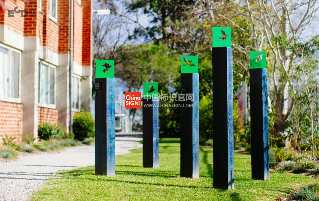 墨尔本女子学院导视系统欣赏创意雕塑设计制作图