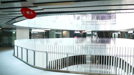 北京三里屯SOHO标识导视系统吊挂指示设计图