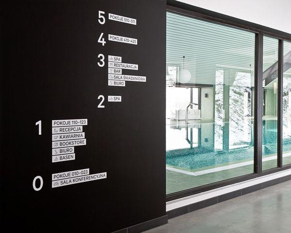 波兰酒店导视系统设计楼层指示设计图
