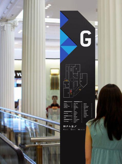 印度购物中心导视系统设计楼层指示设计图