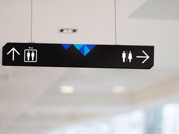 印度购物中心导视系统设计吊挂指示设计图