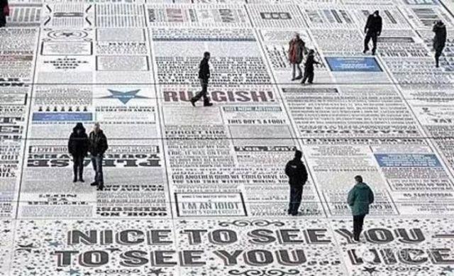 巨型字体艺术