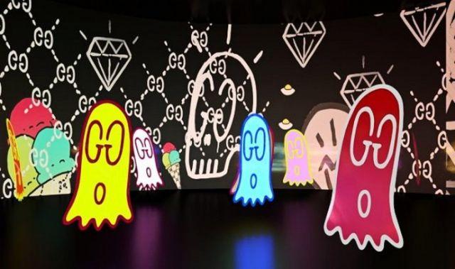 GUCCI日本主题展艺术陈列欣赏橱窗陈列设计图