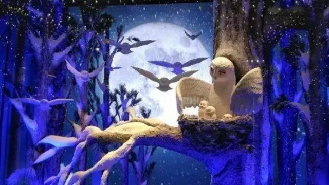 圣诞节商场橱窗陈列设计橱窗陈列设计图