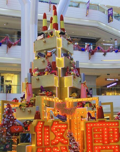 悠唐生活广场圣诞美陈欣赏商场陈列设计图