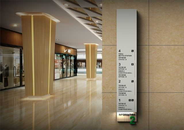商场导视系统设计案例楼层指示设计图