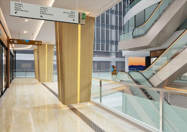 商场导视系统设计案例吊挂指示设计图