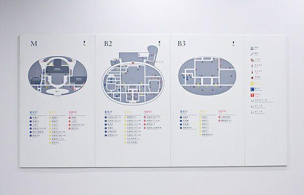 国家大剧院导向标识系统欣赏吊挂指示设计图