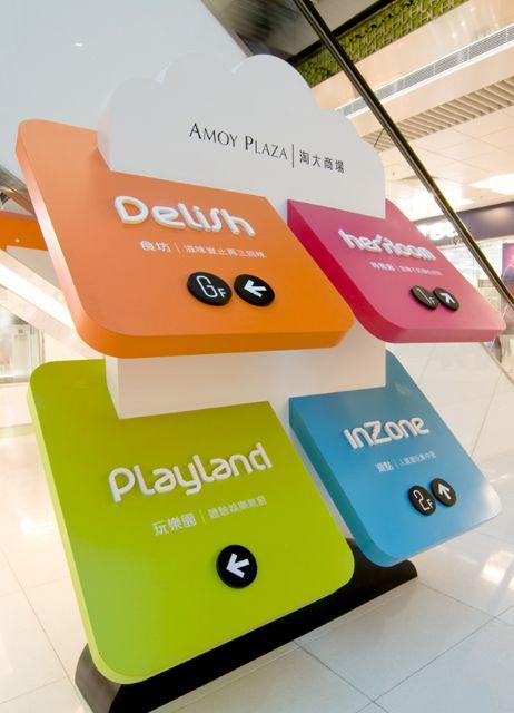香港淘大商场标识导向系统楼层指示设计图