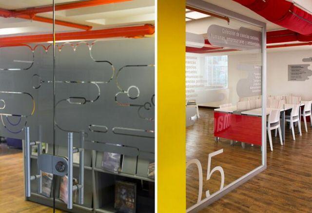 国外图书馆标识导向设计案例科室牌设计图