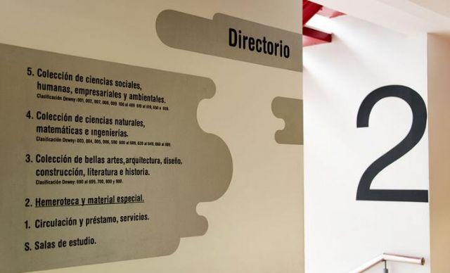 国外图书馆标识导向设计案例楼层指示设计图