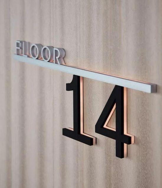 数字标识导视设计楼层指示设计图