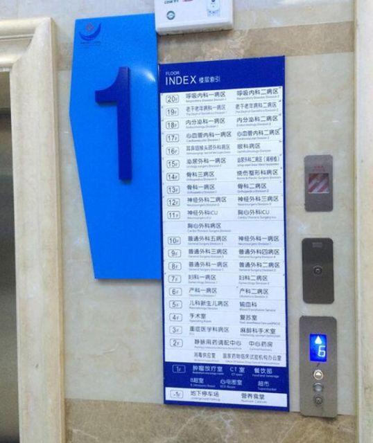 常德第一人民医院标识导视楼层指示设计图