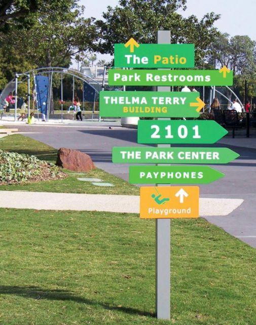 国外公园导视系统设计欣赏