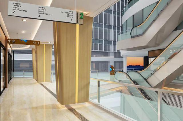 商业广场导视系统案例吊挂指示设计图