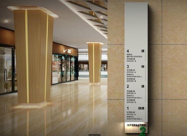 商业广场导视系统案例楼层指示设计图