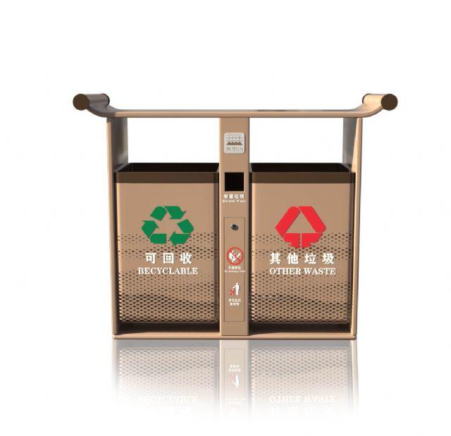无想山垃圾分类桶研发设计成功投放使用垃圾桶设计图