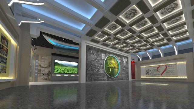 烟草局企业展厅展示柜设计图