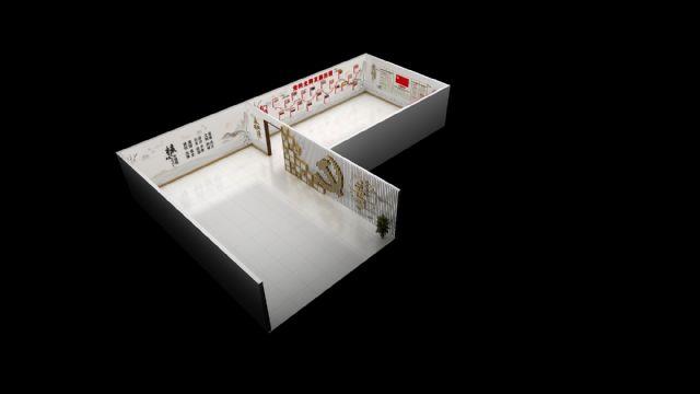 党建文化立体墙展示柜设计图