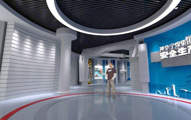 安全展厅展示柜设计图