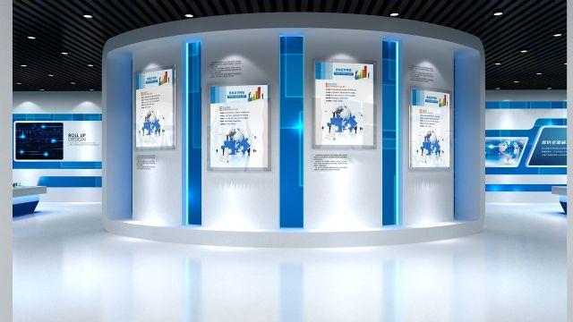 科技展馆展示柜设计图