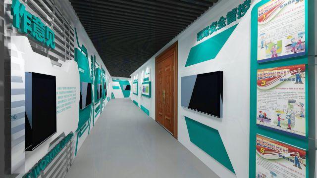 国家电网企业文化走廊展示柜设计图