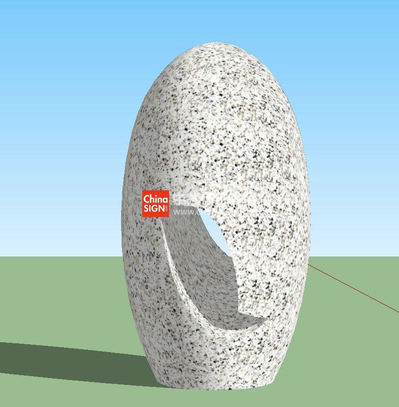 户外广场艺术雕塑SU模型创意雕塑设计制作图