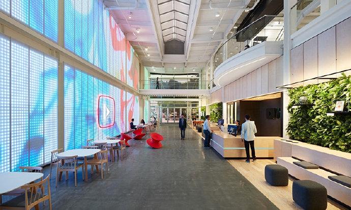 美国加州旧金山YouTube总部大厅交互体验图形