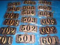 厂家直销锌合金三位数金色金属号码牌门牌